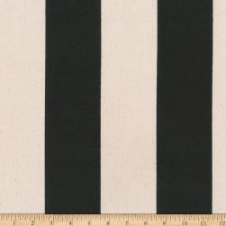 Kaufman Sevenberry Canvas Prints Black Stripes Fabric