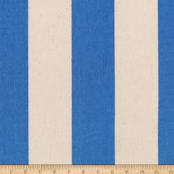 Kaufman Sevenberry Canvas Prints Blue Stripes Fabric