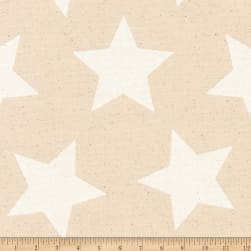 Kaufman Sevenberry Canvas Prints White Stars