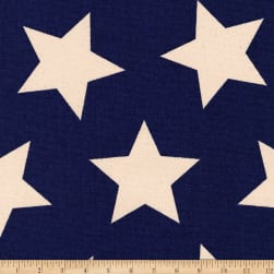 Kaufman Sevenberry Canvas Prints Midnight Stars Fabric