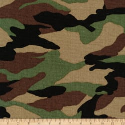 Kaufman Sevenberry Canvas Prints Camouflage Camouflage Fabric