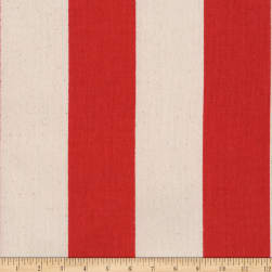Kaufman Sevenberry Canvas Prints Red Stripes Fabric