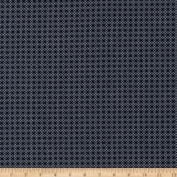 Kaufman Sevenberry Micro Classics Navy Square Fabric