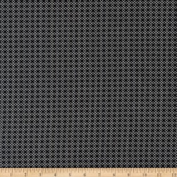 Kaufman Sevenberry Micro Classics Black Square Fabric