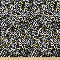 Beeyoutiful Ditsy Floral Black Fabric