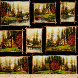Thomas Kinkade Studio All Patch Peaceful Retreat Multi