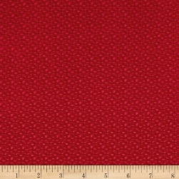 Contempo Let It Snow Windows Red Fabric