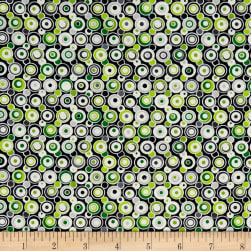 Contempo Let It Snow Bubbles Green Fabric
