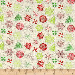 Let It Snow Cookies White/Multi Fabric