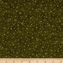 Winter Wonderland Snowball Texture Sage Fabric