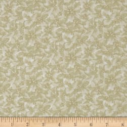 Winter Wonderland Holly & Berries Tonal Cream Fabric