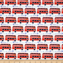From London with Love Double Decker Red Fabric