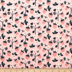 Berry Blossom Berries Pink Fabric