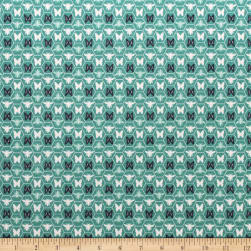 Monarch Grove Hex Sea Blue Fabric