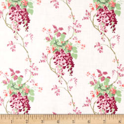 Laura Ashley Wisteria Blooms Purple Fabric