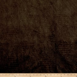 Richloom Barkskin Embossed Velvet Chocolate Fabric