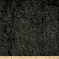 Richloom Barkskin Embossed Velvet Charcoal Fabric