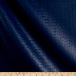 Richloom Tough Faux Leather Onpointe Navy Fabric