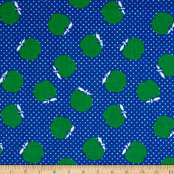Penny Rose Sunnyside Apples Blue Fabric