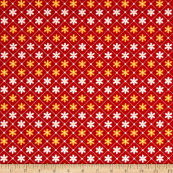 Penny Rose Sunnyside Daisies Red Fabric