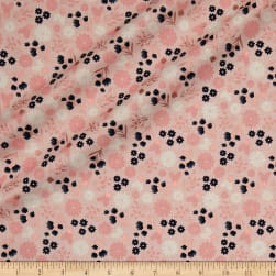 Riley Blake Blush Floral Sparkle Pink Metallic Fabric