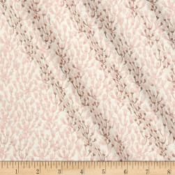 Riley Blake Blush Metallic Petals Sparkle Cream Fabric