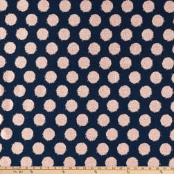 Riley Blake Blush Metallic Dot Sparkle Blue Fabric
