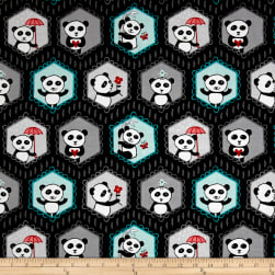Riley Blake Panda Love Panda Main Black Fabric