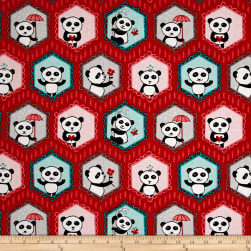 Riley Blake Panda Love Panda Main Red Fabric