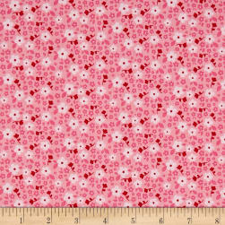 Riley Blake Panda Love Panda Flowers Pink Fabric