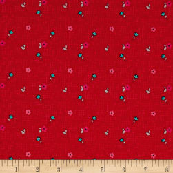 Riley Blake Panda Love Panda Floral Red Fabric