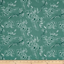 Riley Blake Grandale Carnation Teal Fabric