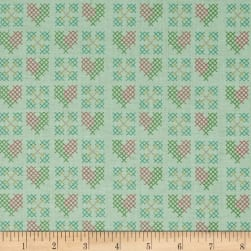 Riley Blake Grandale Stitches Mint Fabric