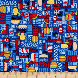 Riley Blake Patriotic Picnic Main Blue Fabric