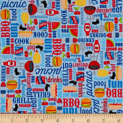 Riley Blake Patriotic Picnic Main Ltblue Fabric