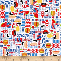 Riley Blake Patriotic Picnic Main White Fabric