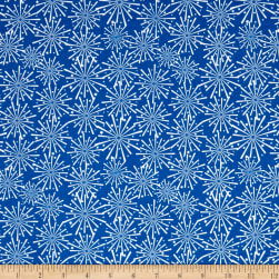 Riley Blake Patriotic Picnic Fireworks Blue Fabric