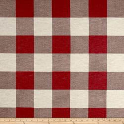 Artistry Buffalo Check Jacquard Red/White Fabric