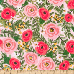 Kaufman Laguna Jersey Knit Prints Flowers Pink Fabric