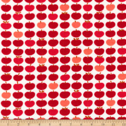 Kaufman Laguna Jersey Knit Prints Red Apples Fabric