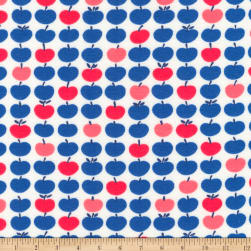 Kaufman Laguna Jersey Knit Prints Americana Apples Fabric