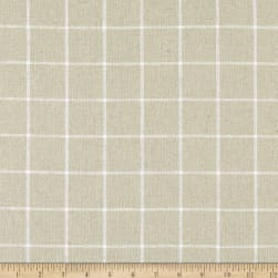 Kaufman Essex Yarn Dyed Classic Wovens Linen Check Natural Fabric