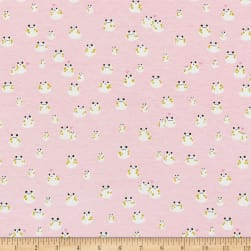Cotton + Steel Front Yard Jersey Knit Frogs Pink Fabric