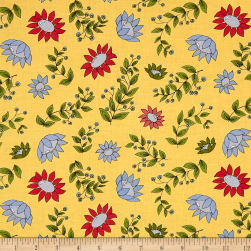 Penny Rose Monday, Monday Main Yellow Fabric