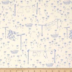 Penny Rose Monday, Monday Laundry Blue Fabric