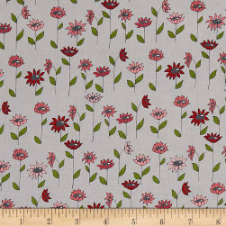 Penny Rose Monday, Monday Blooms Grey Fabric