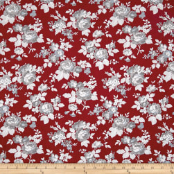 Penny Rose Rustic Romance Rustic Main Red Fabric