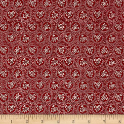 Penny Rose Rustic Romance Rustic Dot Red Fabric