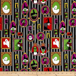 Riley Blake Haunted House Haunted Main Black Fabric