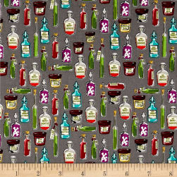 Riley Blake Haunted House Haunted Apothecary Gray Fabric